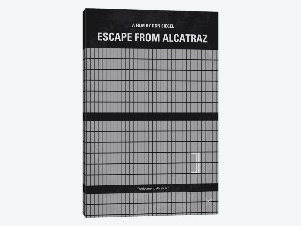 Escape From Alcatraz Minimal Movie Poster by Chungkong 1-piece Canvas Artwork