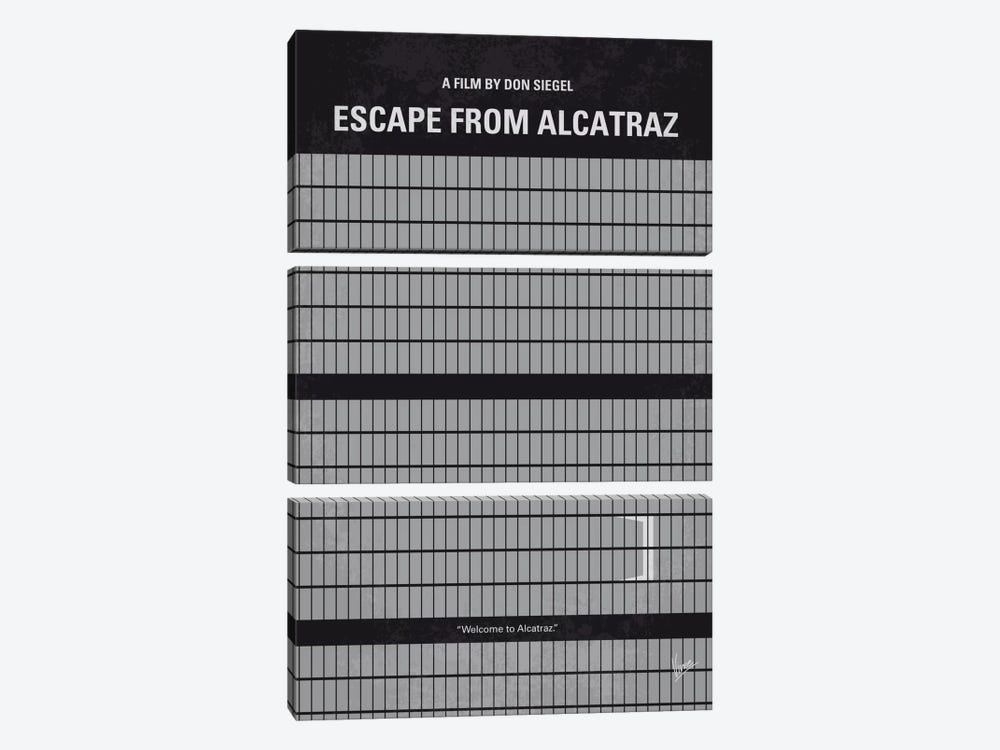 Escape From Alcatraz Minimal Movie Poster by Chungkong 3-piece Canvas Artwork