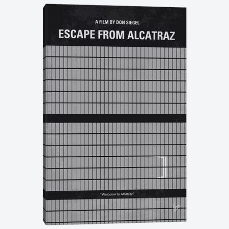 Escape From Alcatraz Minimal Movie Poster Canvas Print #CKG530} by Chungkong Canvas Print