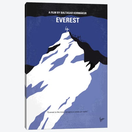 Everest Minimal Movie Poster Canvas Print #CKG531} by Chungkong Art Print