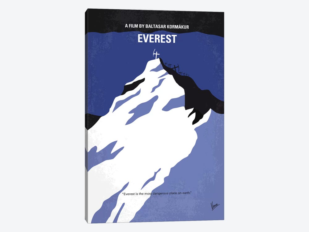 Everest Minimal Movie Poster by Chungkong 1-piece Canvas Print