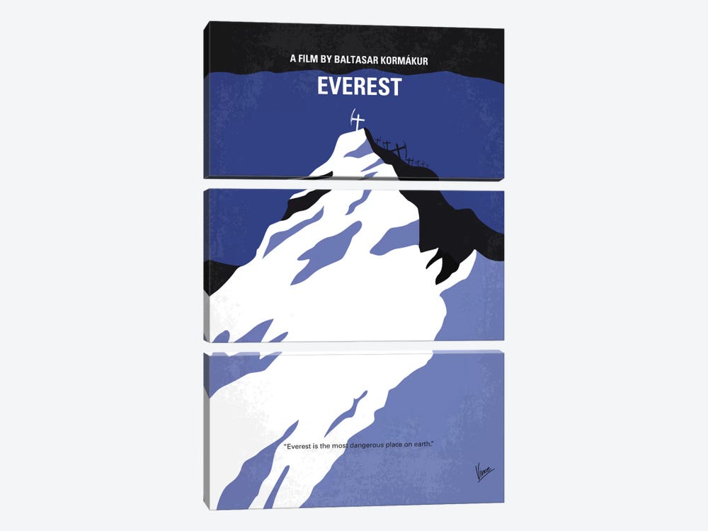 Everest Minimal Movie Poster by Chungkong 3-piece Art Print