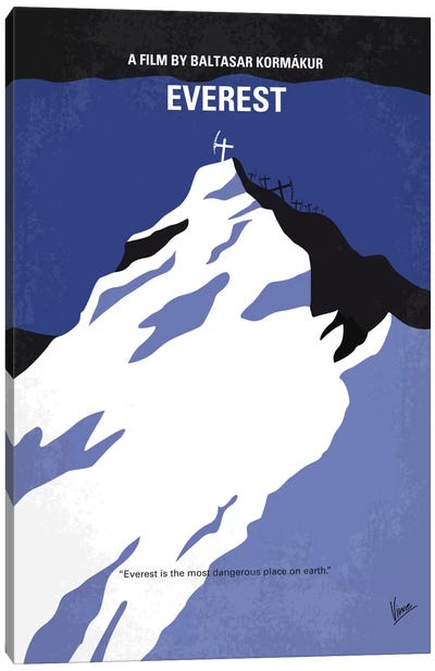 Everest Minimal Movie Poster Canvas Art Print