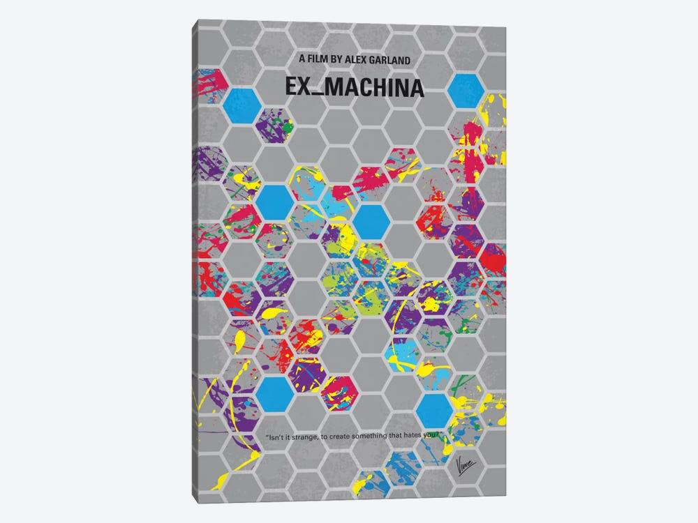 Ex Machina Minimal Movie Poster by Chungkong 1-piece Canvas Artwork
