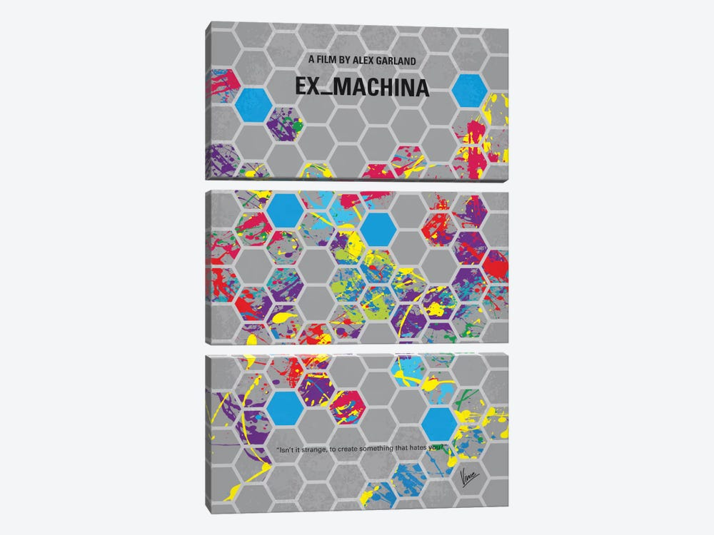 Ex Machina Minimal Movie Poster by Chungkong 3-piece Canvas Wall Art