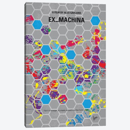 Ex Machina Minimal Movie Poster Canvas Print #CKG532} by Chungkong Canvas Print
