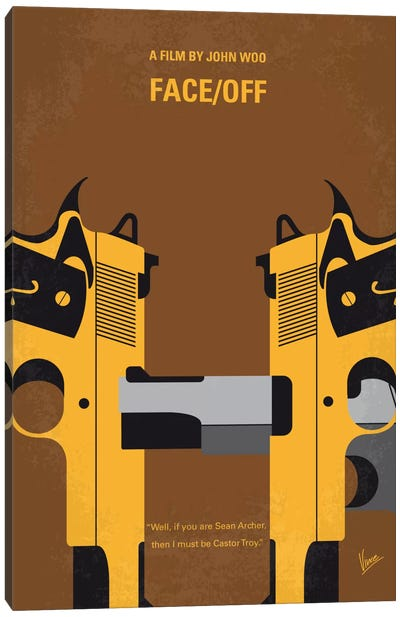 Face/Off Minimal Movie Poster Canvas Art Print