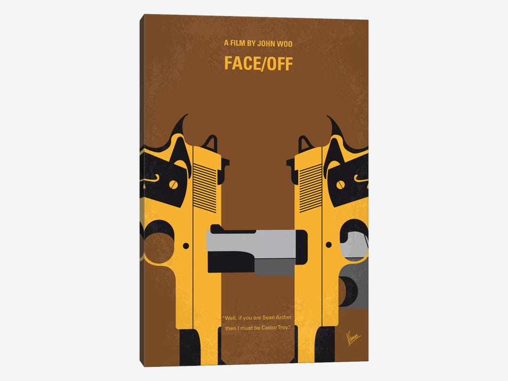 Face/Off Minimal Movie Poster by Chungkong 1-piece Art Print