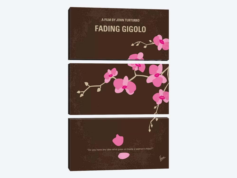 Fading Gigolo Minimal Movie Poster by Chungkong 3-piece Canvas Wall Art