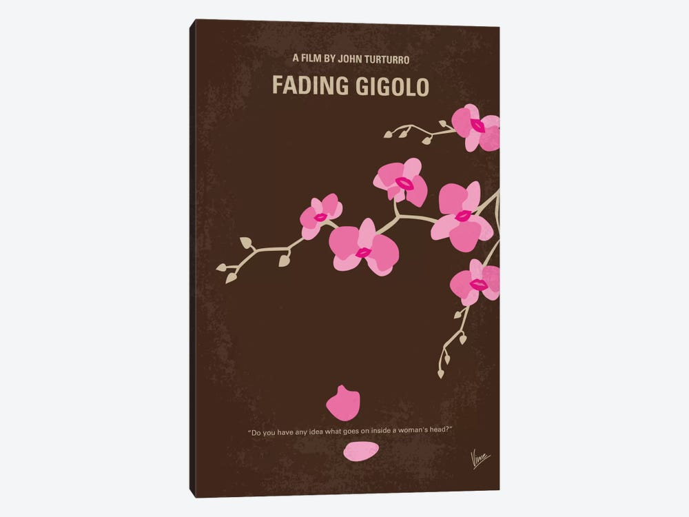 Fading Gigolo Minimal Movie Poster by Chungkong 1-piece Canvas Wall Art