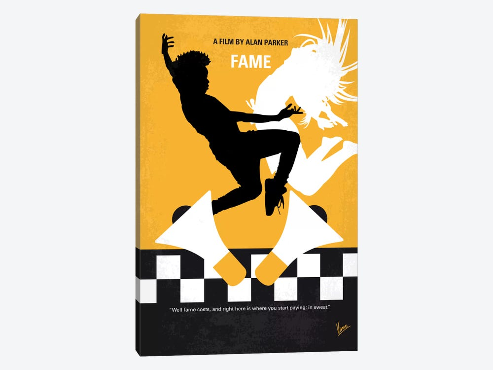 Fame Minimal Movie Poster by Chungkong 1-piece Canvas Print