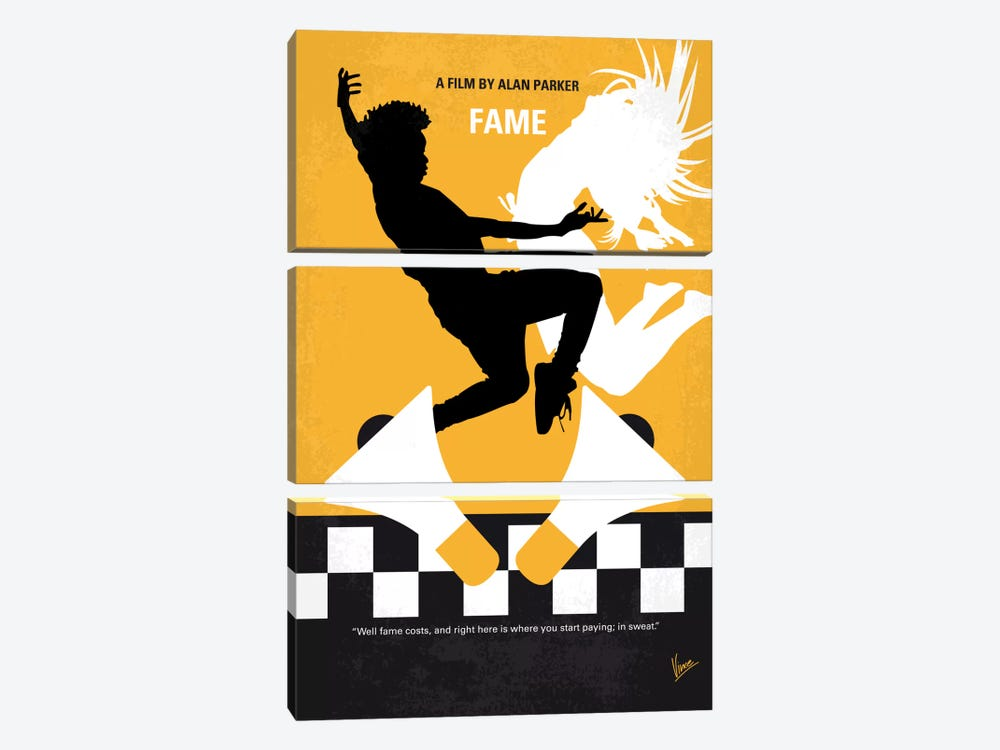 Fame Minimal Movie Poster by Chungkong 3-piece Canvas Art Print