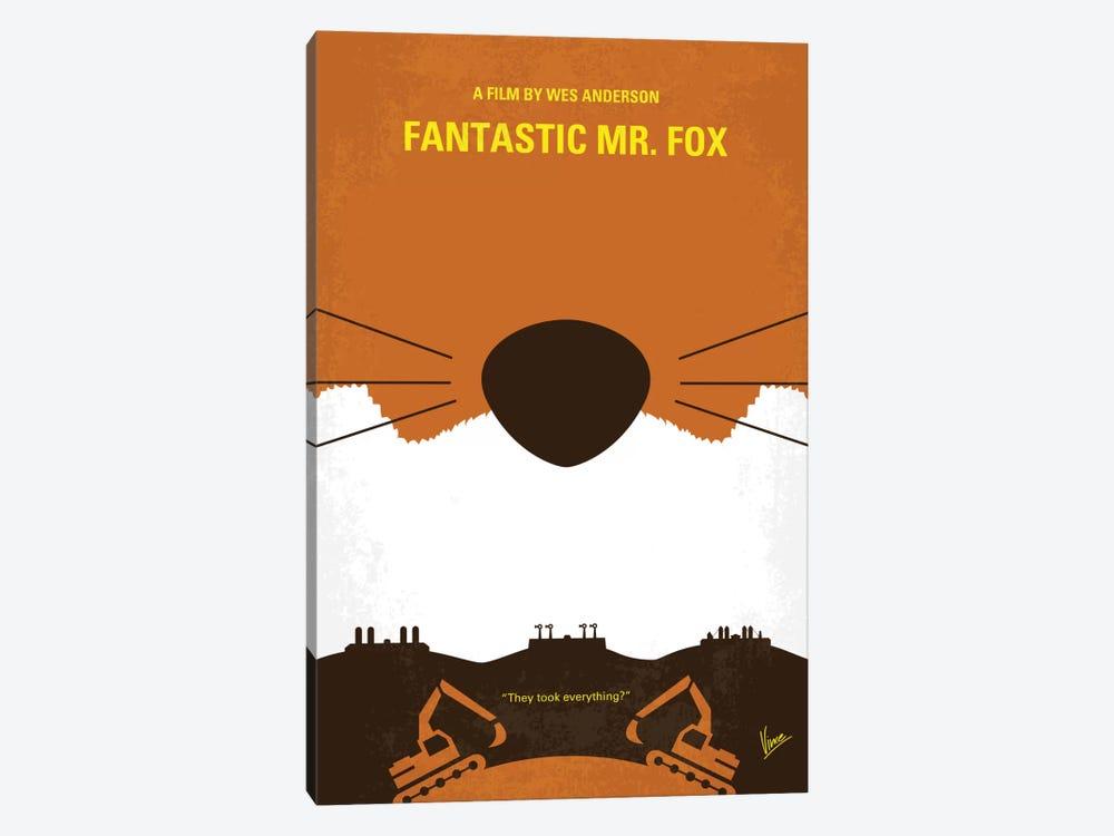 Fantastic Mr. Fox Minimal Movie Poster by Chungkong 1-piece Canvas Wall Art