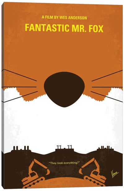 Fantastic Mr. Fox Minimal Movie Poster Canvas Art Print