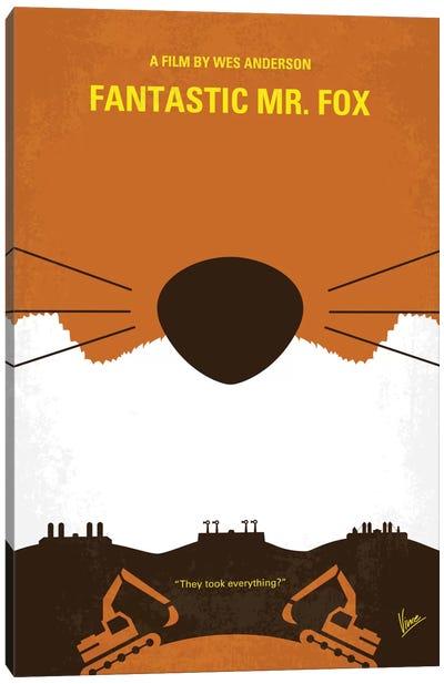 Fantastic Mr. Fox Minimal Movie Poster Canvas Art Print