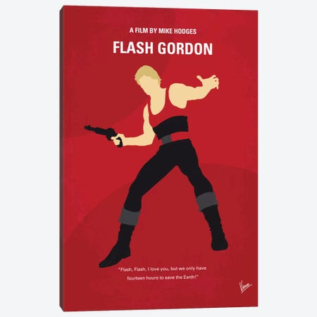Flash Gordon Minimal Movie Poster Canvas Print #CKG537} by Chungkong Canvas Artwork