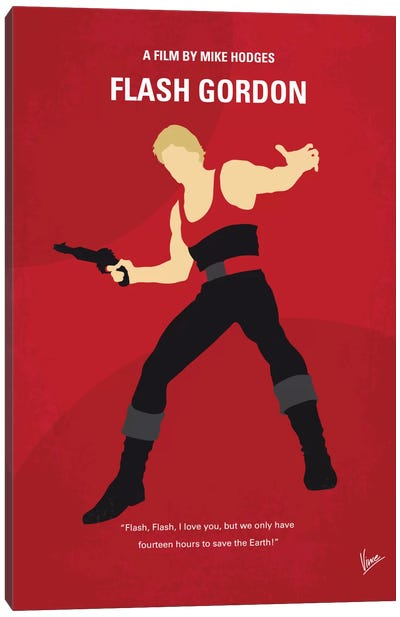 Flash Gordon Minimal Movie Poster Canvas Print #CKG537