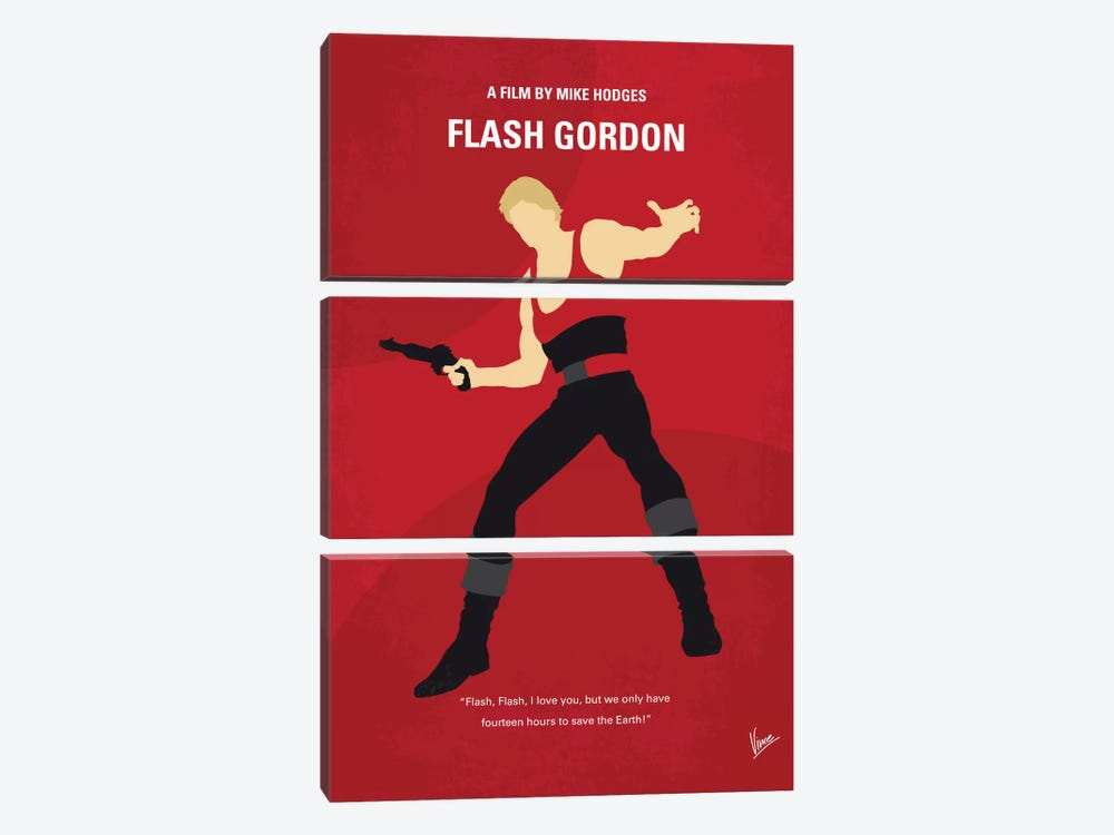 Flash Gordon Minimal Movie Poster by Chungkong 3-piece Canvas Art Print