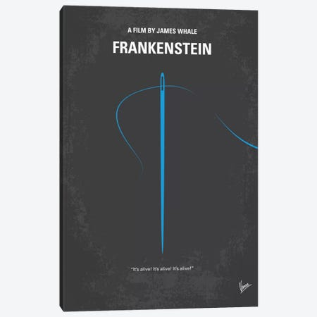 Frankenstein Minimal Movie Poster Canvas Print #CKG539} by Chungkong Canvas Art Print