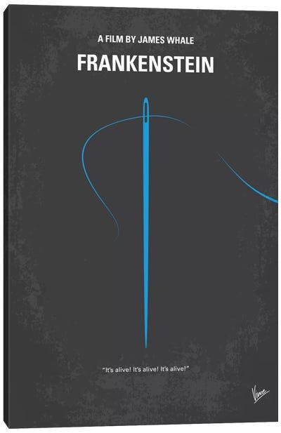 Frankenstein Minimal Movie Poster Canvas Print #CKG539