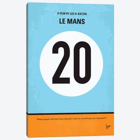 Le Mans Minimal Movie Poster Canvas Print #CKG53} by Chungkong Canvas Art