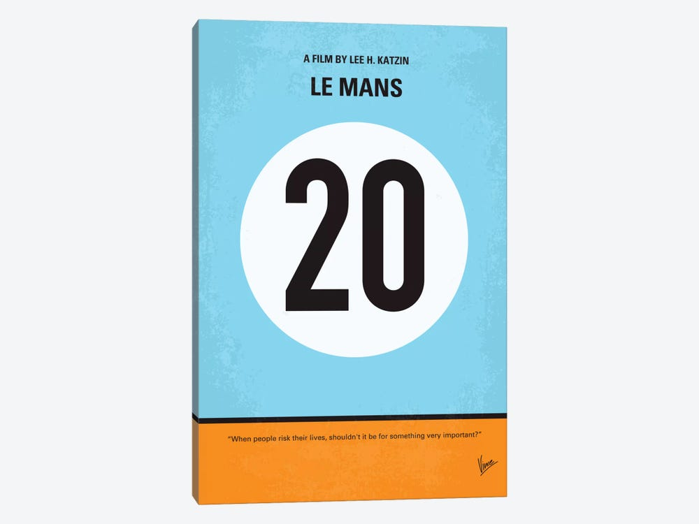 Le Mans Minimal Movie Poster by Chungkong 1-piece Art Print