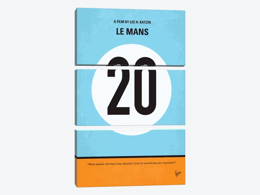 Le Mans Minimal Movie Poster 3-piece Art Print