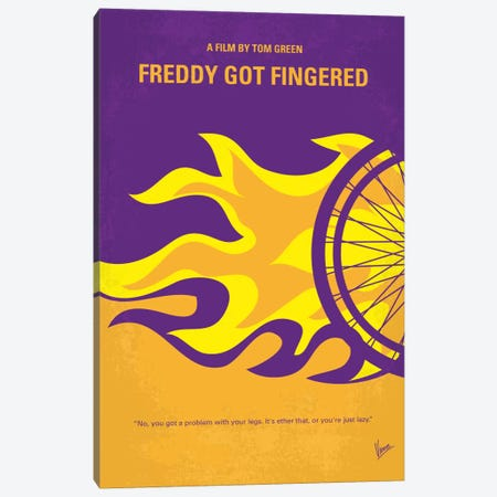 Freddy Got Fingered Minimal Movie Poster Canvas Print #CKG540} by Chungkong Canvas Art
