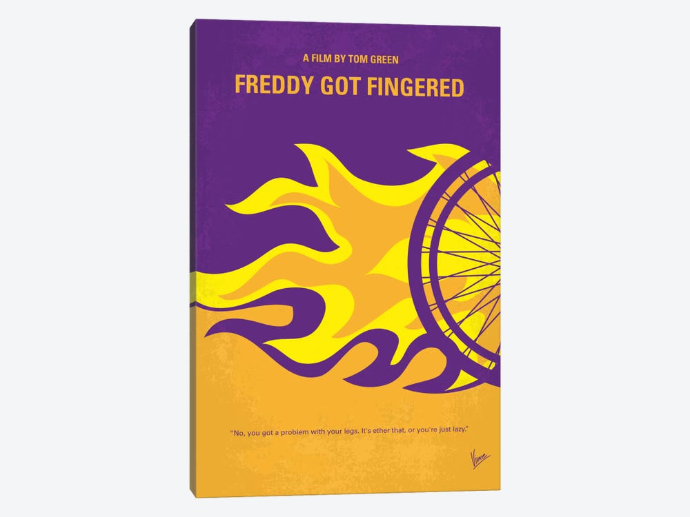 Freddy Got Fingered Minimal Movie Poster by Chungkong 1-piece Canvas Print