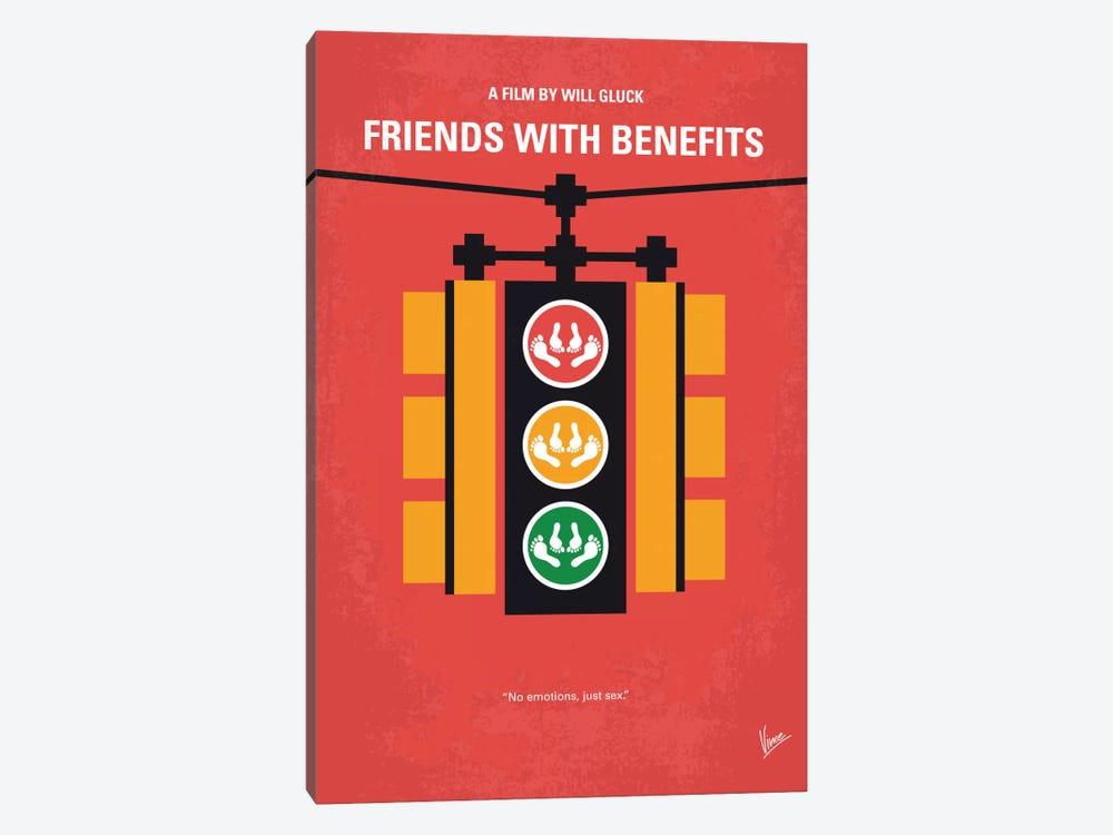 Friends With Benefits Minimal Movie Poster by Chungkong 1-piece Art Print