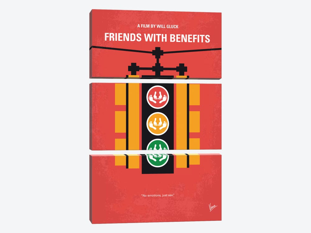 Friends With Benefits Minimal Movie Poster by Chungkong 3-piece Canvas Print