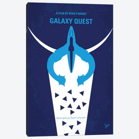 Galaxy Quest Minimal Movie Poster Canvas Print #CKG543} by Chungkong Canvas Wall Art