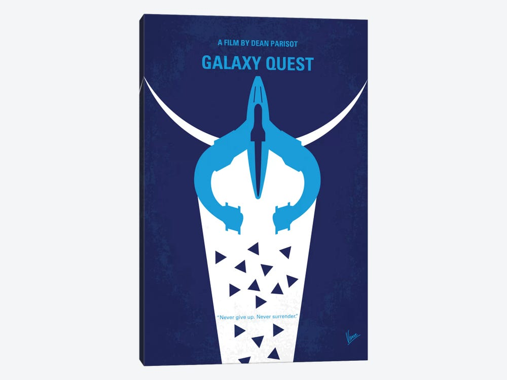 Galaxy Quest Minimal Movie Poster by Chungkong 1-piece Canvas Art