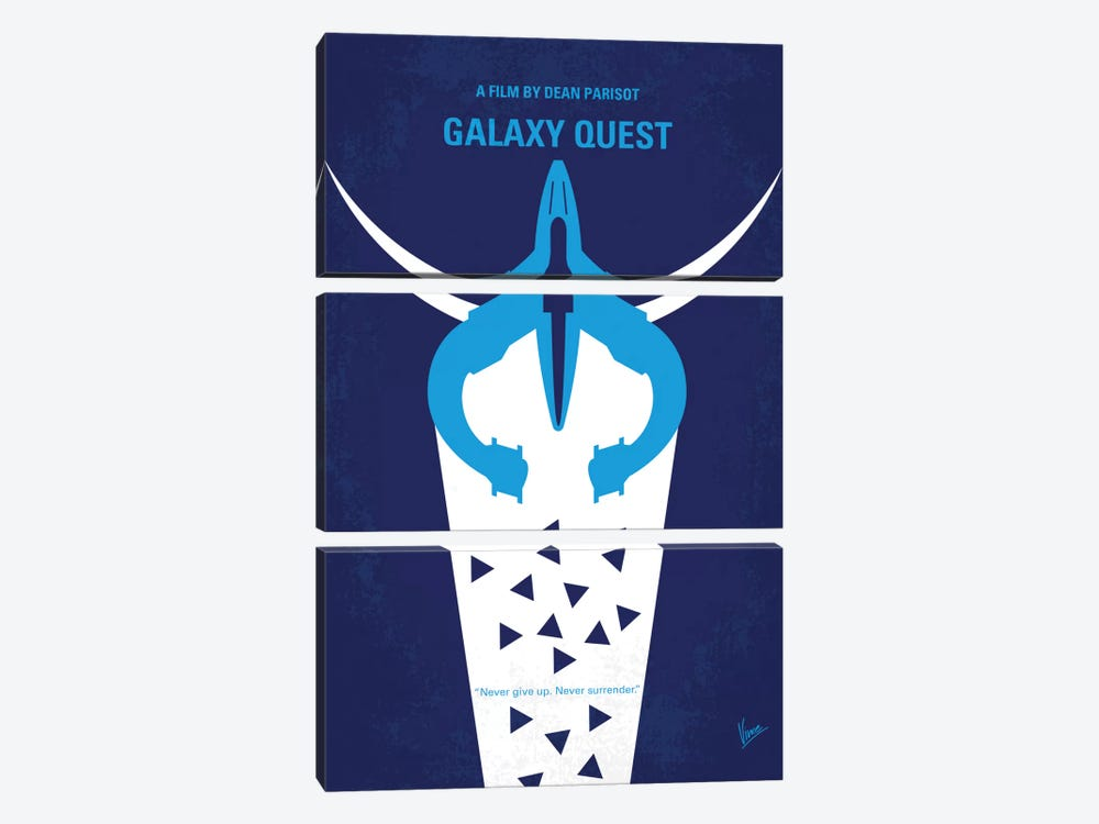 Galaxy Quest Minimal Movie Poster by Chungkong 3-piece Canvas Art