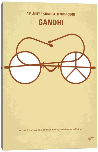 Gandhi Minimal Movie Poster Canvas Print #CKG544