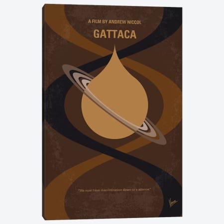 Gattaca Minimal Movie Poster Canvas Print #CKG545} by Chungkong Canvas Art Print