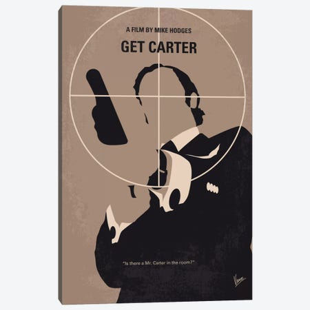 Get Carter Minimal Movie Poster Canvas Print #CKG546} by Chungkong Canvas Print