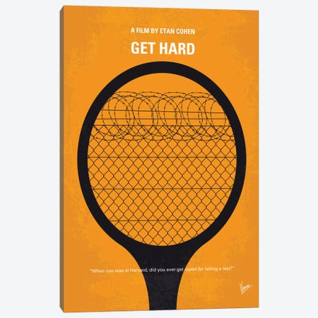 Get Hard Minimal Movie Poster Canvas Print #CKG547} by Chungkong Canvas Art Print