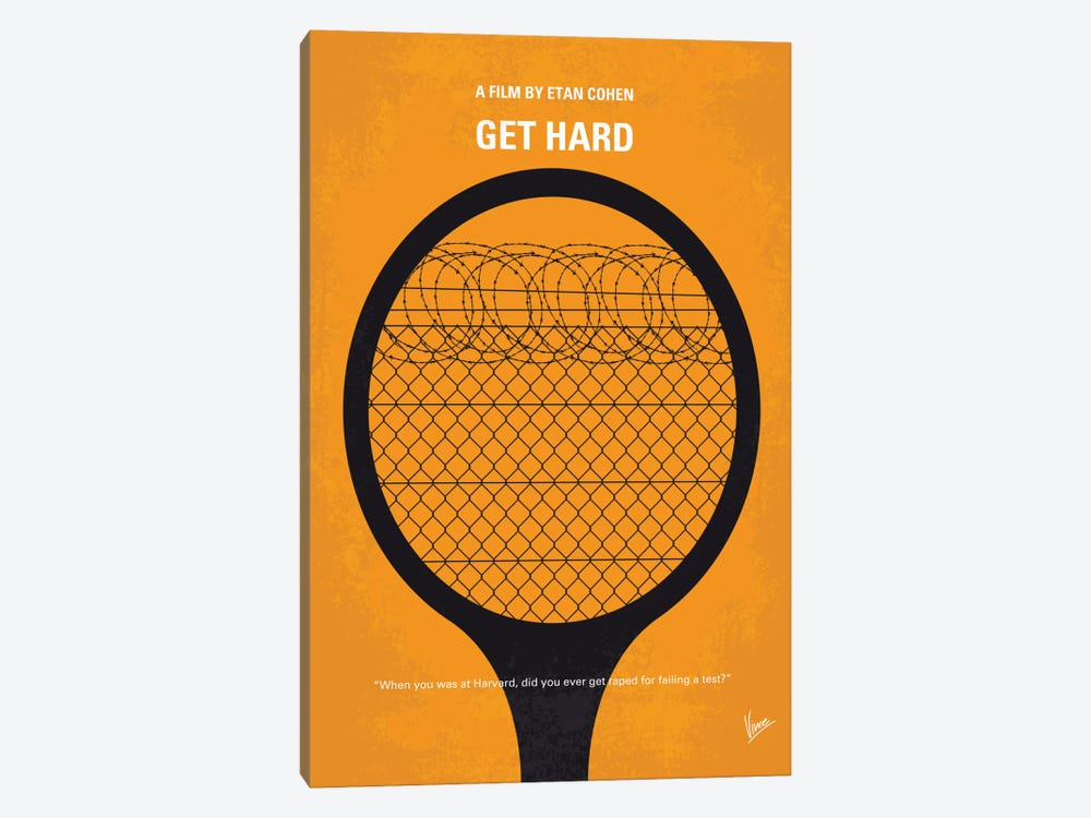 Get Hard Minimal Movie Poster by Chungkong 1-piece Canvas Artwork
