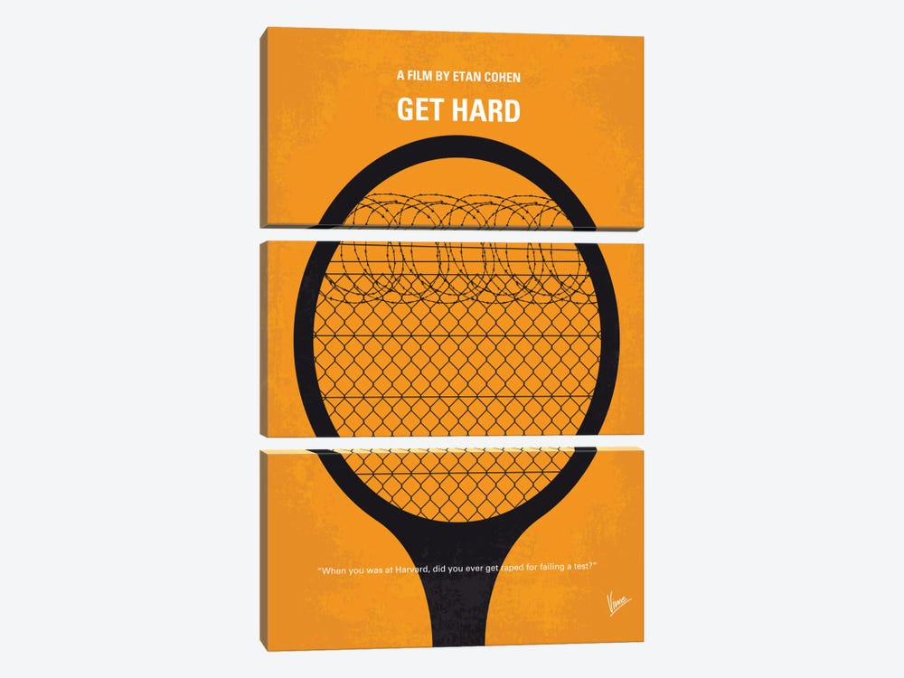 Get Hard Minimal Movie Poster by Chungkong 3-piece Canvas Wall Art