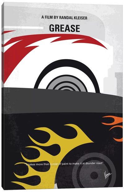 Grease Minimal Movie Poster Canvas Print #CKG549