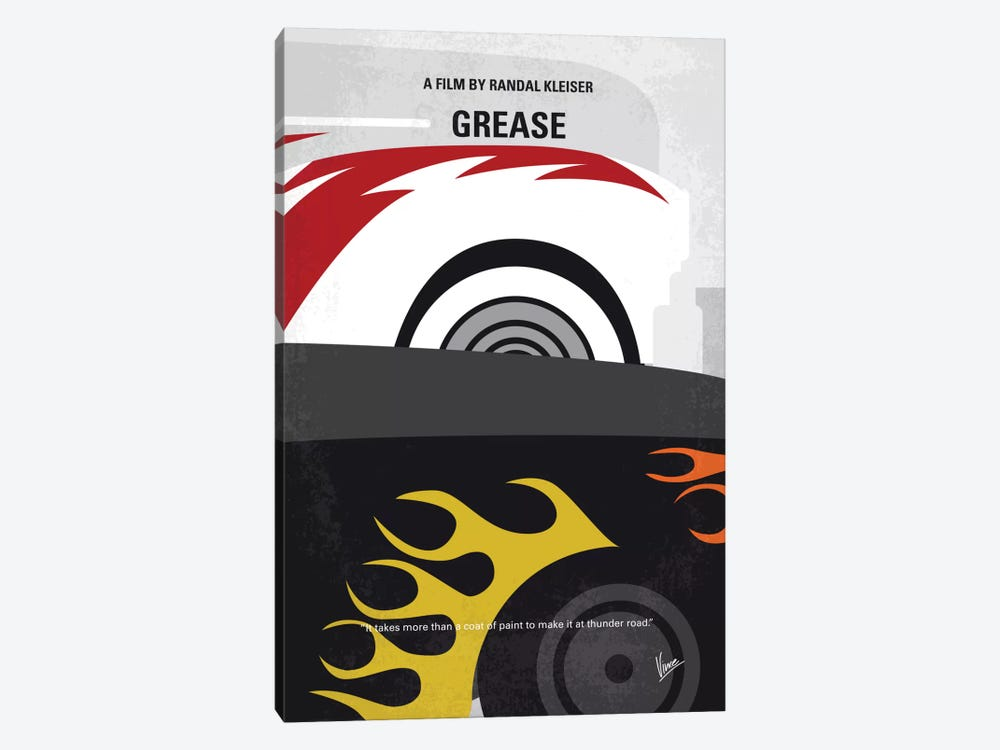 Grease Minimal Movie Poster by Chungkong 1-piece Canvas Wall Art