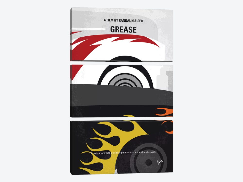 Grease Minimal Movie Poster by Chungkong 3-piece Canvas Artwork