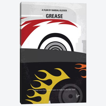 Grease Minimal Movie Poster Canvas Print #CKG549} by Chungkong Canvas Art