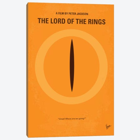 Lord Of The Rings Minimal Movie Poster Canvas Print #CKG54} by Chungkong Canvas Art Print