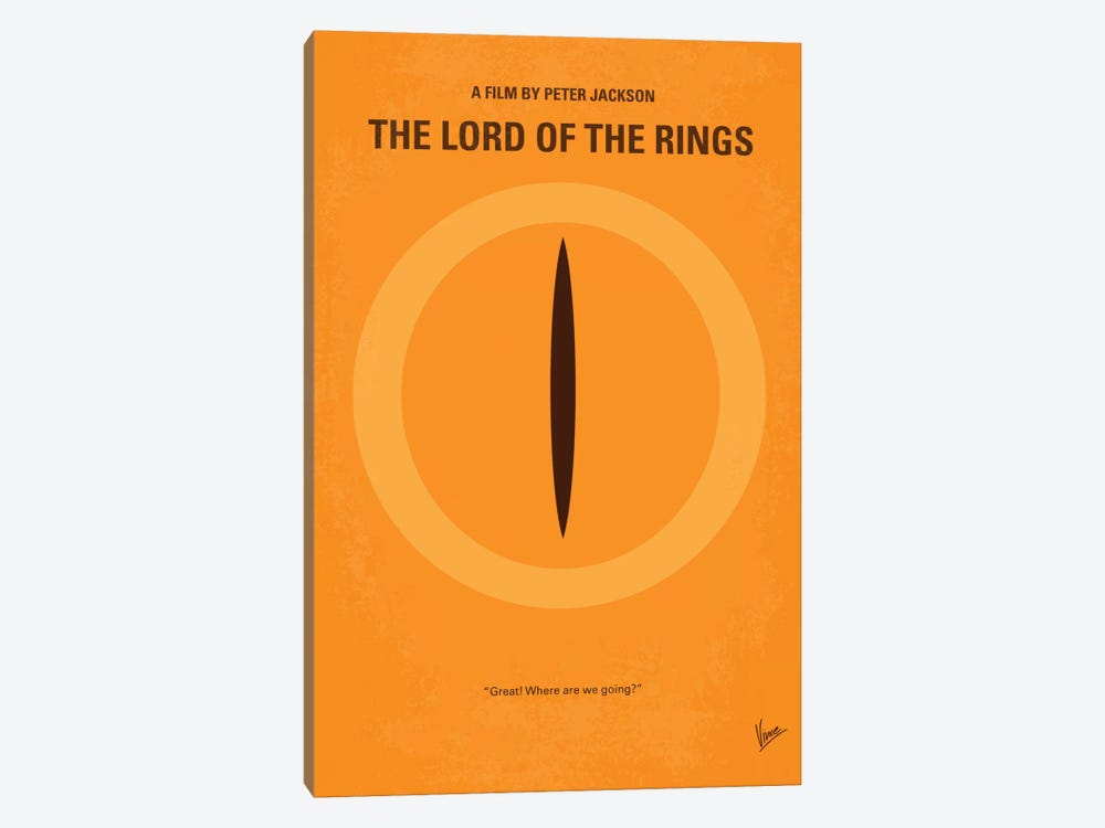 Lord Of The Rings Minimal Movie Poster by Chungkong 1-piece Canvas Artwork