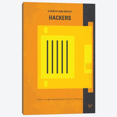 Hackers Minimal Movie Poster Canvas Print #CKG550} by Chungkong Art Print