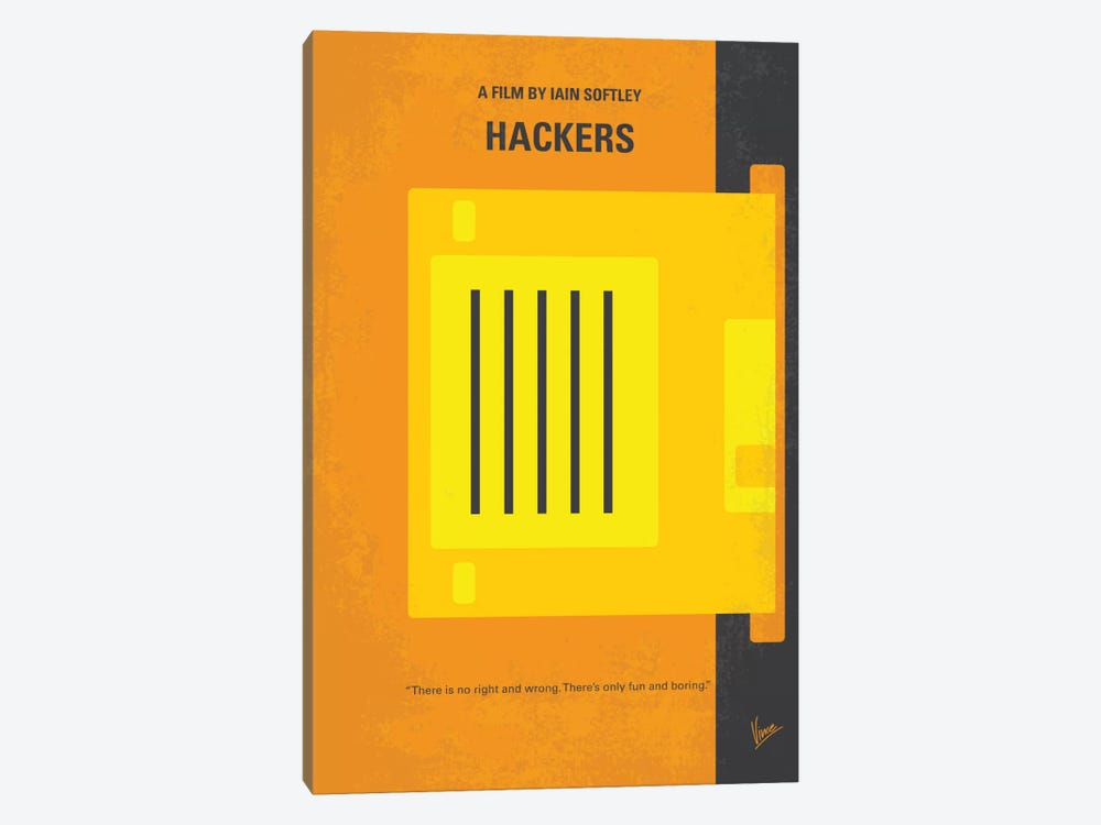 Hackers Minimal Movie Poster by Chungkong 1-piece Canvas Wall Art