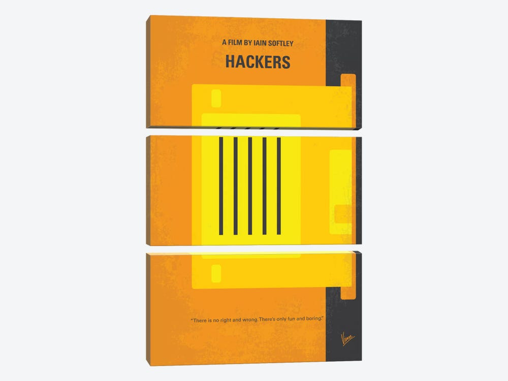 Hackers Minimal Movie Poster by Chungkong 3-piece Canvas Artwork