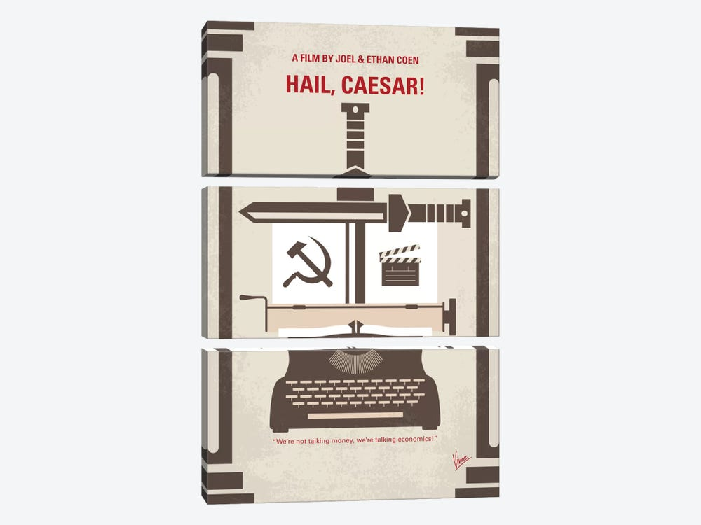 Hail, Caesar! Minimal Movie Poster by Chungkong 3-piece Art Print